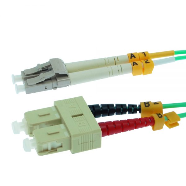 9m Fiber Optic Jumpers 50/125 10G Multimode Duplex SC-LC