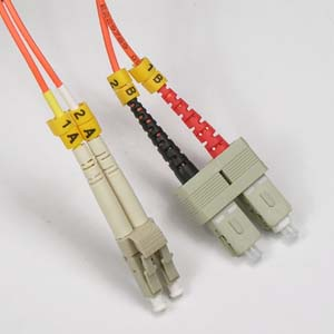 7m Fiber Optic Jumpers 50/125 Multimode Duplex LC-SC