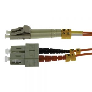 5m Fiber Optic Jumpers 62.5/125 Multimode Duplex LC-SC