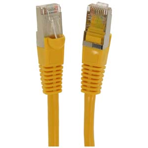 CAT.5E Yellow Booted Patch Cable