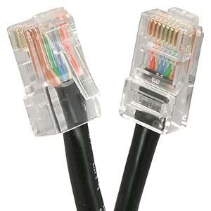 CAT.5E Black Non Booted Patch Cable