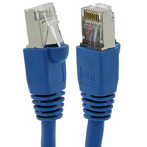 CAT.6A Blue Booted Patch Cable