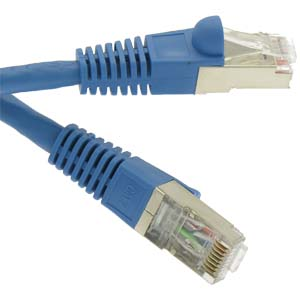 CAT.7 Blue Booted Patch Cable
