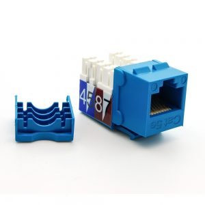 CAT 5E Keystone Jack Blue