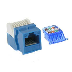 CAT 5E Toolless Keystone Jack Blue