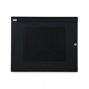 9U LINIER® Swing-Out Wall Mount Cabinet - Vented Door front