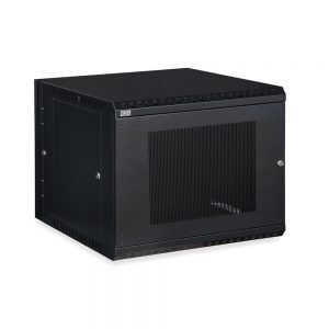 9U LINIER® Swing-Out Wall Mount Cabinet - Vented Door isometric