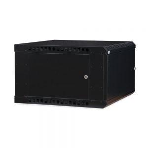 6U LINIER® Fixed Wall Mount Cabinet - Solid Door dimetric