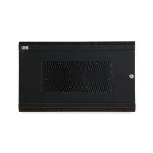 6U LINIER® Fixed Wall Mount Cabinet - Vented Door front