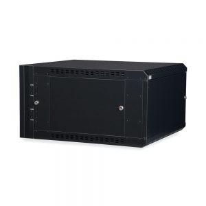 6U LINIER® Swing-Out Wall Mount Cabinet - Solid Door dimetric