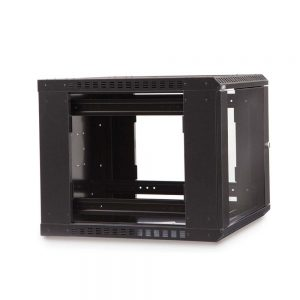 9U LINIER® Fixed Wall Mount Cabinet - Glass Door dimetric
