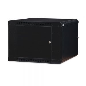 9U LINIER® Fixed Wall Mount Cabinet - Solid Door dimetric