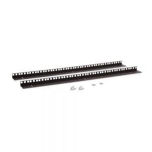 15U LINIER® Wall Mount Vertical Rail Kit - Cage Nut