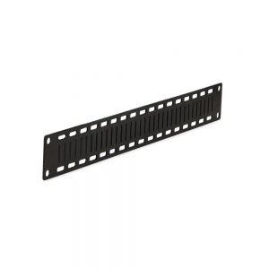 1U Flat Cable Lacing Panel - 10 pack dimetric