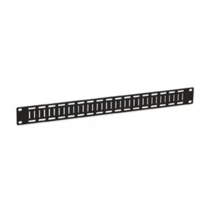 1U Flat Cable Lacing Panel - 10 pack isometric