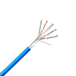 CAT 6 Shielded Riser, Blue Sheath - Exposed Wires, Foil and Spline