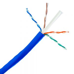 CAT 6A Plenum, Blue Sheath - Exposed Wires and Spline