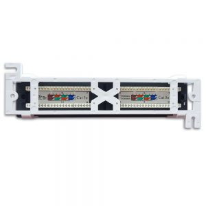 CAT 5E 12-Port Patch Panel - Back View