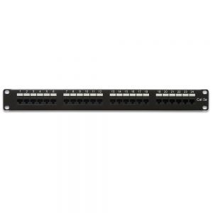 CAT 5E 24-Port Patch Panel Rackmount - Front View