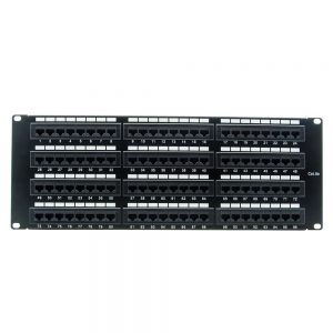 CAT 5E 96-Port Patch Panel Rackmount - Front View