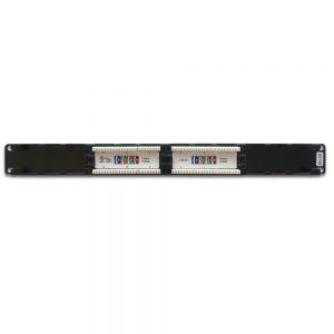 CAT 6 12-Port Patch Panel Rackmount - Back View
