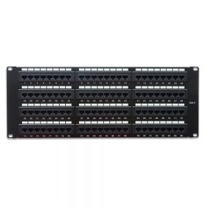 CAT 6 96-Port Patch Panel Rackmount - Front View