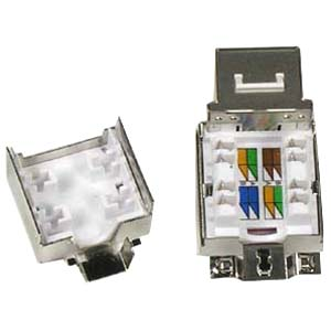 CAT 6A Keystone Jack RJ45 100 - Shielded - 10G - Bottom View