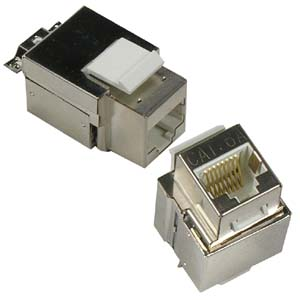 CAT 6A Keystone Jack RJ45 100 - Shielded - 10G - Top View