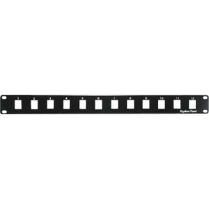 "1U 19"" 12-Port Blank Panel for Keystone Jack"