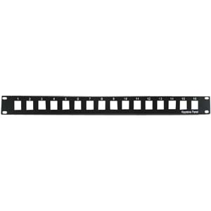 "1U 19"" 16-Port Blank Panel for Keystone Jack"