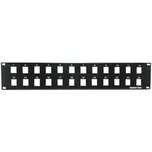 "2U 19"" 24-Port Blank Panel for Keystone Jack"