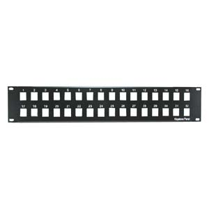 "2U 19"" 32-Port Blank Panel for Keystone Jack"