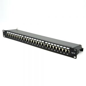 CAT 6 24 Port Shielded Patch Panel