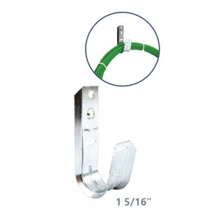 Universal 5-16 J-Hook Wall Mount Cable Support - Implementation View