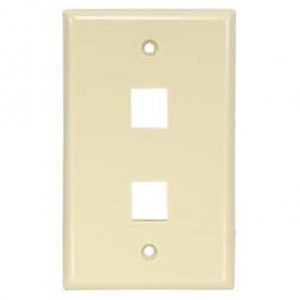 Ivory - 2 Port Wall Plate Smooth Face