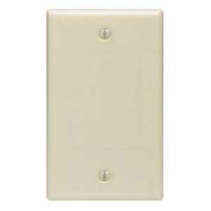 Ivory - Blank Wall Plate Smooth Face