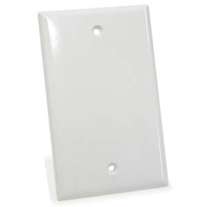 White - Blank Wall Plate Smooth Face
