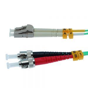 5m Fiber Optic Jumpers 50/125 10G Multimode Duplex ST-LC