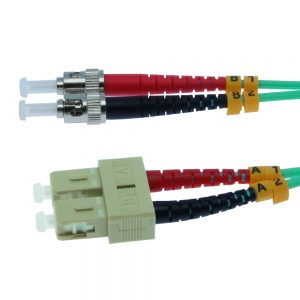 5m Fiber Optic Jumpers 50/125 10G Multimode Duplex SC-ST