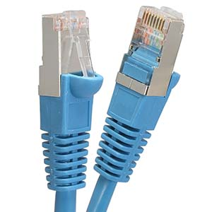 CAT.5E Blue Booted Patch Cable