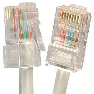 CAT.5E Gray Non Booted Patch Cable