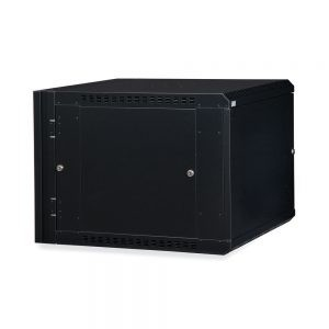 9U LINIER® Swing-Out Wall Mount Cabinet - Solid Door dimetric