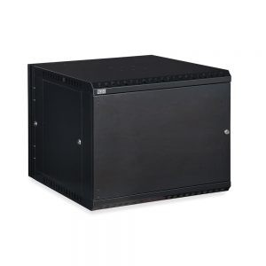 9U LINIER® Swing-Out Wall Mount Cabinet - Solid Door isometric