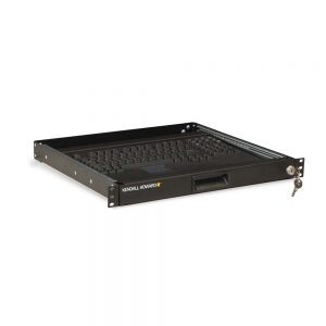 Isometric View of 2-Post Keyboard Tray