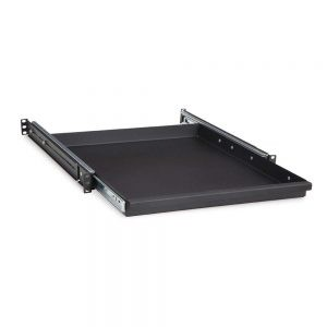 1U 20 Rack Mountable Sliding Shelf isometric opened