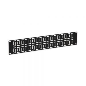 2U Flat Cable Lacing Panel - Isometric View