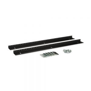 15U LINIER® Wall Mount Vertical Rail Kit - 10-32 Tapped