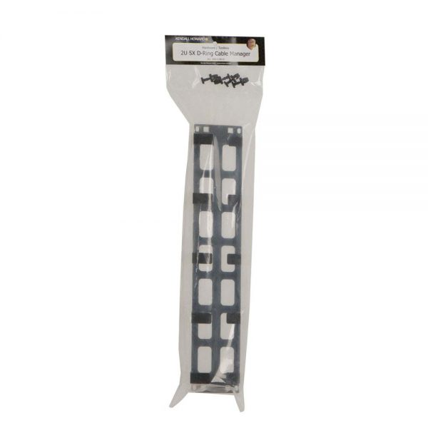 2U Tool-less 5X D-Ring Cable Manager package