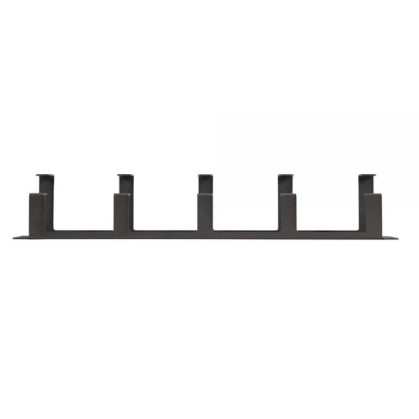 2U Tool-less 5X D-Ring Cable Manager top