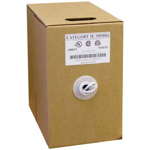 CAT 5E White - 1000Ft Pull Box